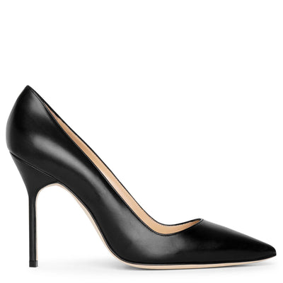 BB 105 black leather pumps