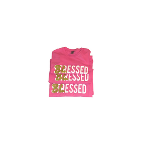 Blessed Not Stressed - Pink