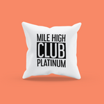 Load image into Gallery viewer, MILE HIGH CLUB PLATINUM PILLOW 30x30 cm - BLACK - ROWONE