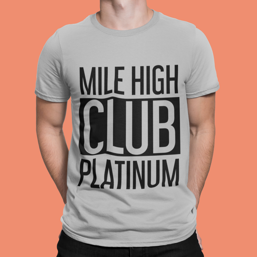 MILE HIGH CLUB PLATINUM T–SHIRT - GREY - ROWONE