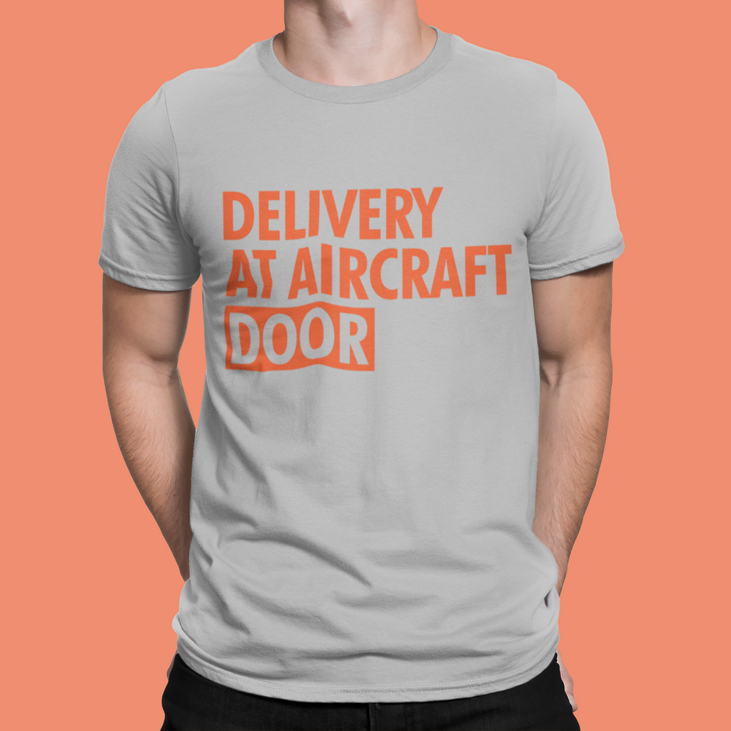 DELIVERY AT AIRCRAFT DOOR T-SHIRT – GREY - ROWONE