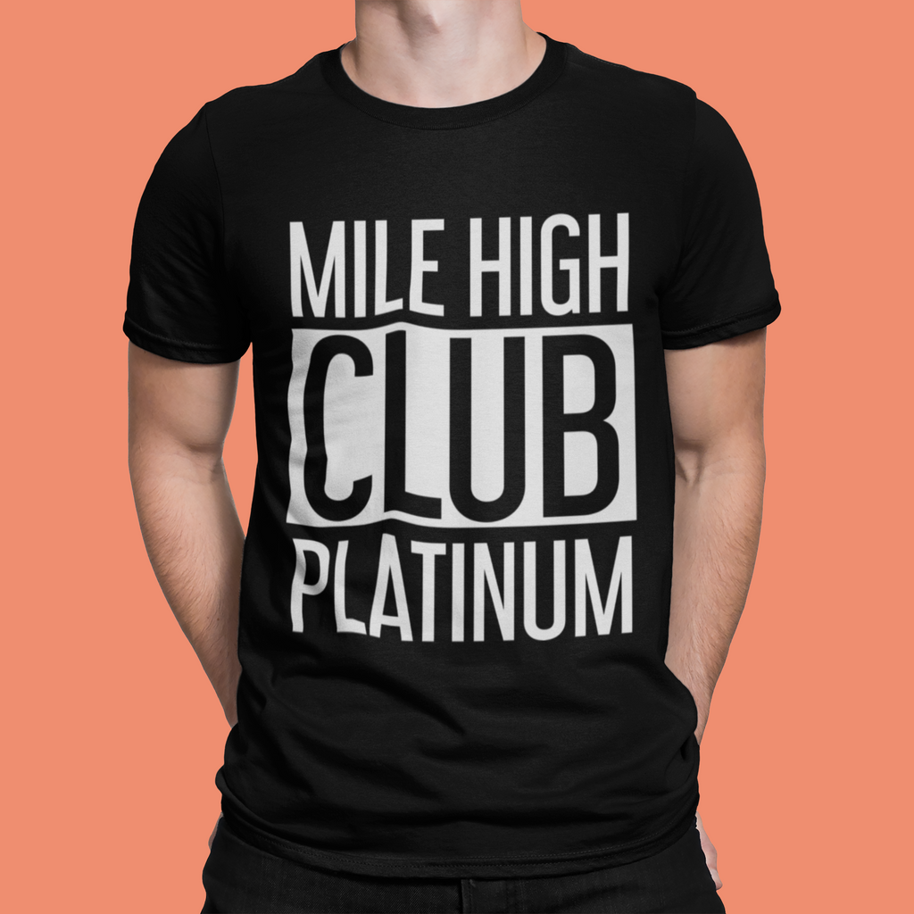 MILE HIGH CLUB PLATINUM T-SHIRT - BLACK - ROWONE