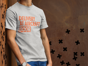 DELIVERY AT AIRCRAFT DOOR T-SHIRT - WHITE - ROWONE