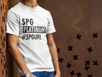 Load image into Gallery viewer, SPG PLATINUM #SPGLIFE T–SHIRT - GREY - ROWONE