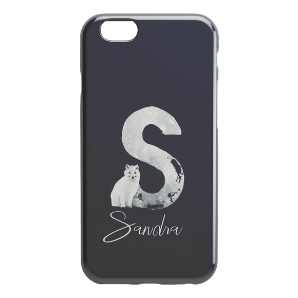 Personalised Initials Custom Hard Phone Case Winter Christmas iPhone case TL