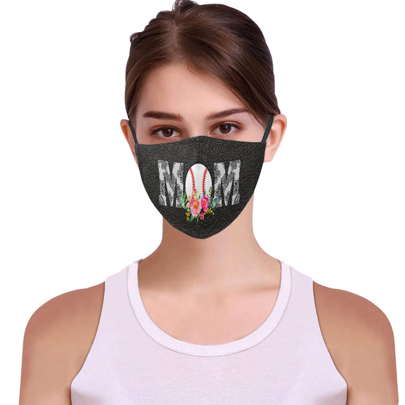 Baseball Mom Face Mask Filter Included iP