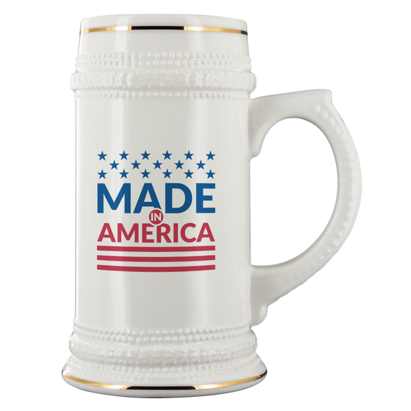 Beer Stein Made In America Independence Day July Patriotic Beer Lover Mug - You Can Print