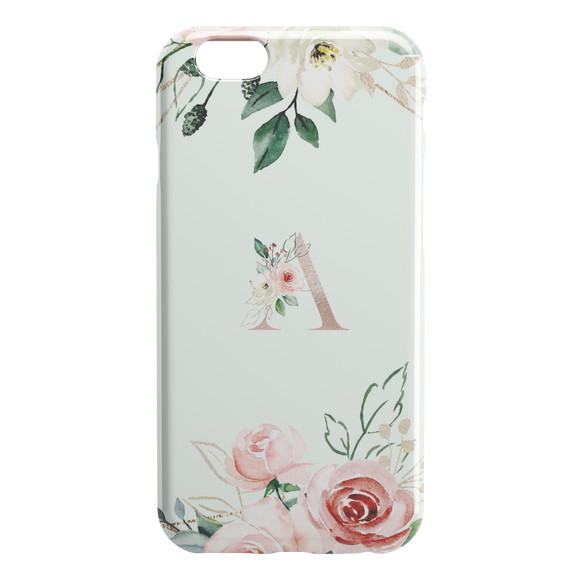 Personalized Phone Case Floral Custom Monogram iPhone skin gift TL