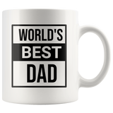 World's best Dad Coffee Mug, Father's Day Gift, Gift For Dad - You Can Print