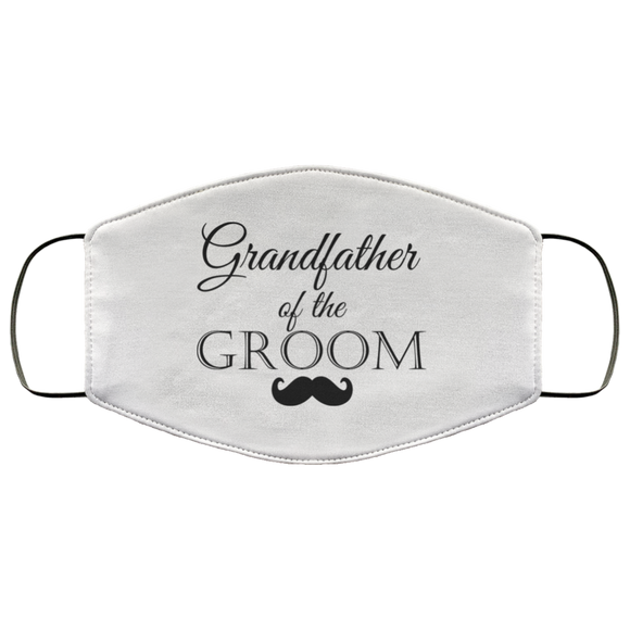 Wedding Masks Grandfather of the groom mask face covers for wedding guests - You Can Print