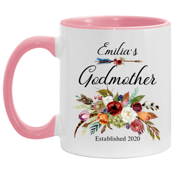 Mug Godmother personalized name Emilias pink 11OZ Coffee Mug CC