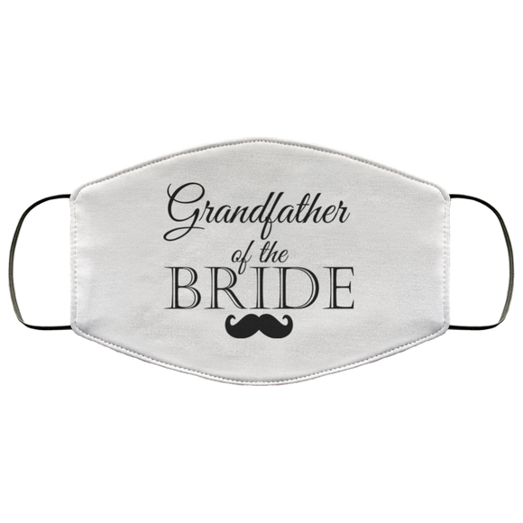 Wedding Masks Grandfather of the Bride Face Cover Wedding Guests Mask - You Can Print