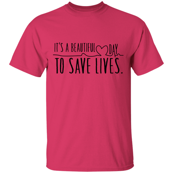 Shirt it is a beautiful day to save lives shirt, greys shirt, nurse, nursing gift.  CC