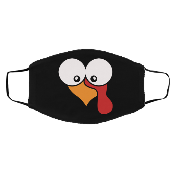 TURKEY FACE Thanksgiving Turkey FMA Med/Lg Face Mask CC