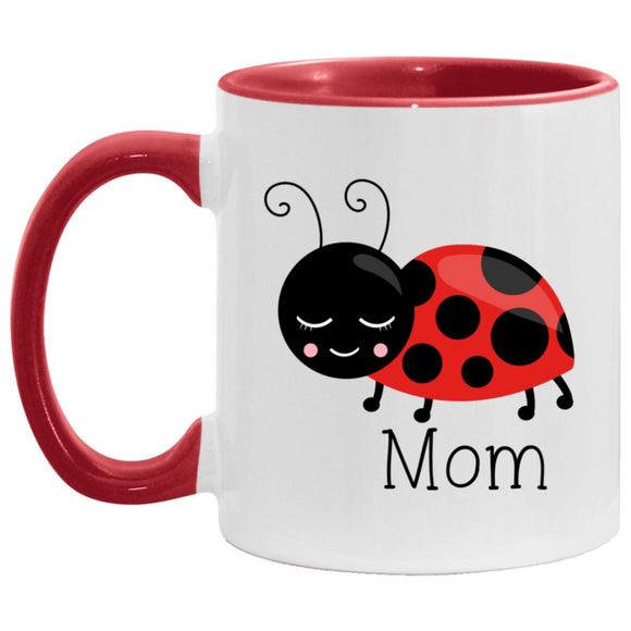 Mug Ladybug Mom red Accent Mug Special Mom coffee CC