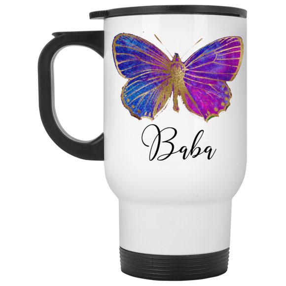 Butterfly BABA White Travel Mug CC