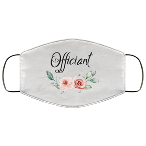Face Mask OFFICIANT Wedding Party face Cover for Bridal shower
