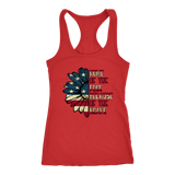 Tank Top Sunflower US Flag Patriotic Tee Women's Top - You Can Print