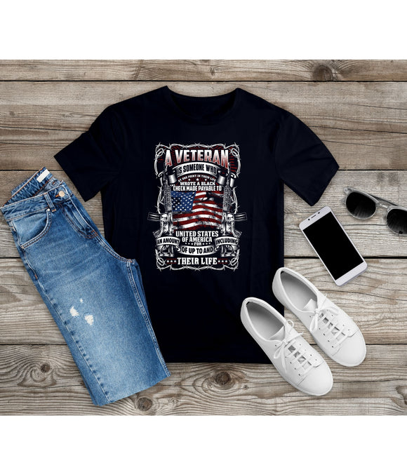 T-Shirt American Veteran Shirt patriotic Tee Independence Day tshirt 4th of July Veteran's Day - You Can Print