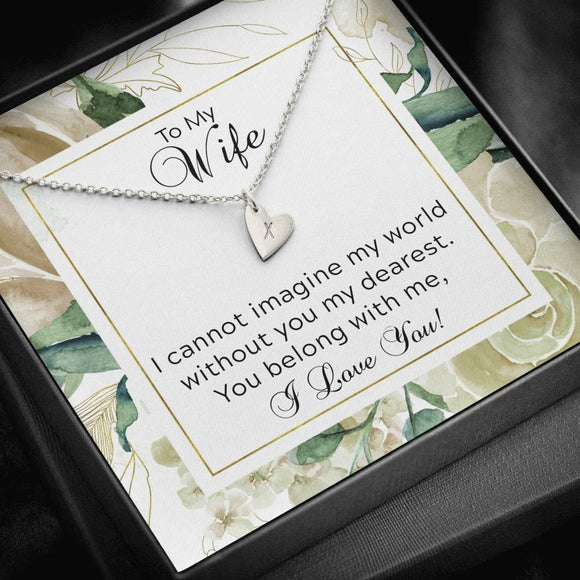 Sweet Hearts Necklace Husband Gift for Wife You Belong With Me  SO