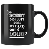 Black Ceramic Breakfast Mug - Funny Coffee Tea Mug - Gift Ideas - You Can Print