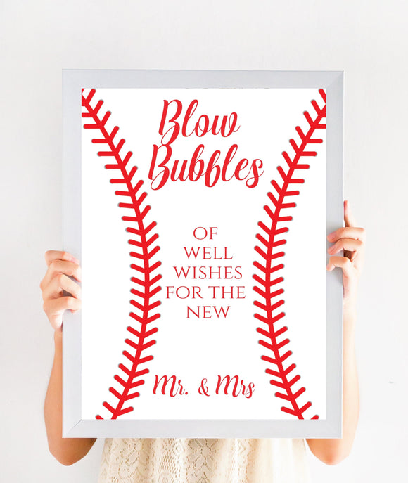 Blow Bubbles Wedding Sign Printable Well Wishes Custom Template - You Can Print