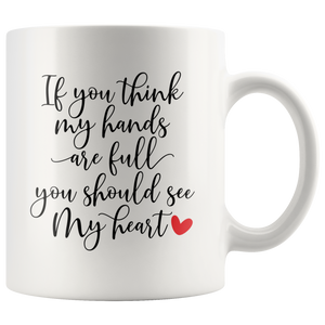 Breakfast Mug - Mother's day Gift - White Ceramic Coffee Tea Mug with Quote - You Can Print