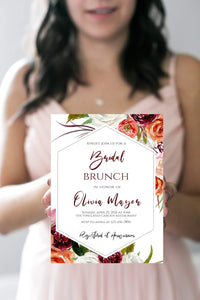 Bridal Brunch Invitation Template Editable Instant Download Template Corjl 5x7 - You Can Print