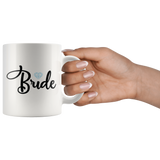 Bride Coffee Mug - White Ceramic Coffee Mug for Bride - Breakfast Tea Coffee Cup - Bridal Shower Gift Under 10 - You Can Print
