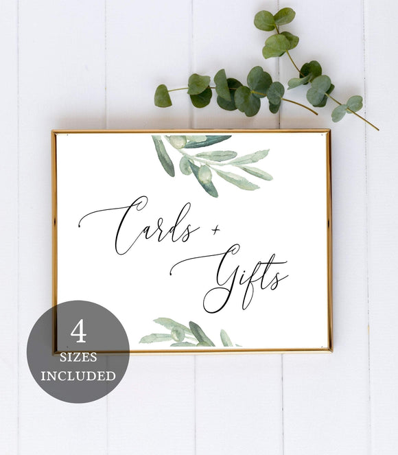 Cards and Gifts Sign-Wedding Signs-Wedding Cards Sign-Card Table Sign VO - You Can Print