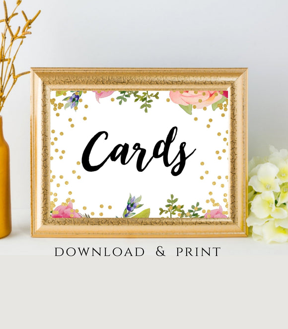 Cards Wedding Cards Sign printable Cards table Sign please take one  FB - You Can Print