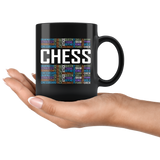 Chess Mug, 11 oz Black ceramic Hot Beverage Breakfast Coffee Tea Mug, Gift For Chess Player - You Can Print