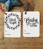 Christmas Gift Tags Holiday Gift Tags Rustic Christmas gift tag set Printable  GT - You Can Print