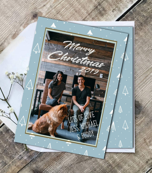 Christmas party greeting Photo Card,Printable Christmas Family Photo greeting - You Can Print