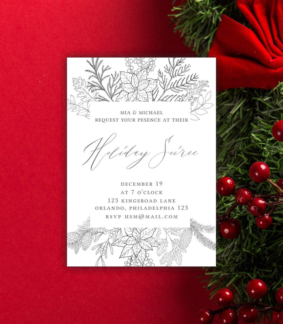 Christmas party,Holiday Party Invitation/printable Christmas party Invitation/Glam party - You Can Print