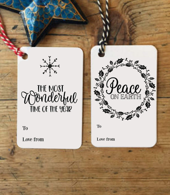 Christmas TAGs,printable Christmas Gift Tags,Modern Christmas tag,Digital Christmas GT - You Can Print