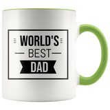 Coffee Mug, World's Best Dad Mug, Father's day Gift - You Can Print