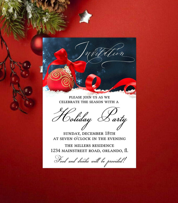 Custom Christmas invitation,Digital Christmas Party,DIY Christmas Party Invitation - You Can Print