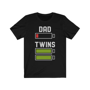 Mug Dad of Twins Funny Unisex Jersey Short Sleeve Tee Pregnancy - You Can Print