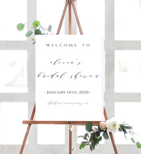 Digital Bridal Shower Welcome Sign Template, Welcome Bridal Shower - You Can Print