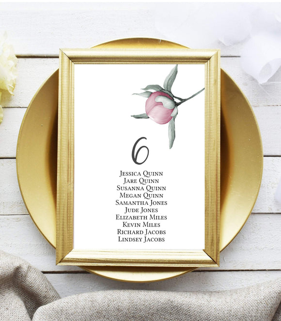 Digital Table Number Template, Wedding Table Number, 100% Editable in EP - You Can Print