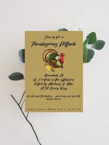 Digital Thanksgiving Invitation,Thanksgiving Dinner Invitation Template - You Can Print