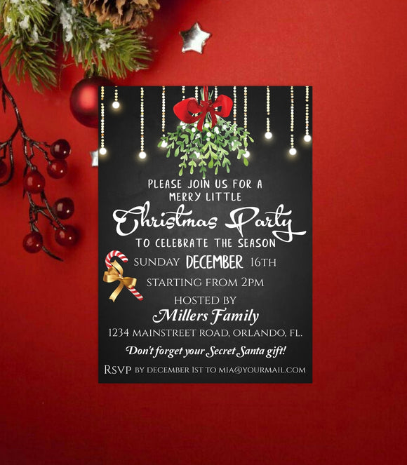Editable Christmas Party Invitation,printable Christmas Party Invitation - You Can Print
