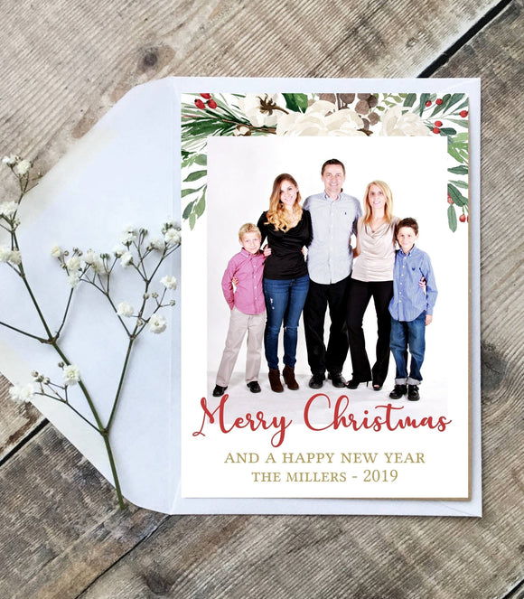 Editable Christmas photo card,Printable Christmas photo card - You Can Print