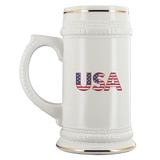 Beer Stein USA Flag Independence Day July 4th Beer Mug Gift for Beer Lover - You Can Print