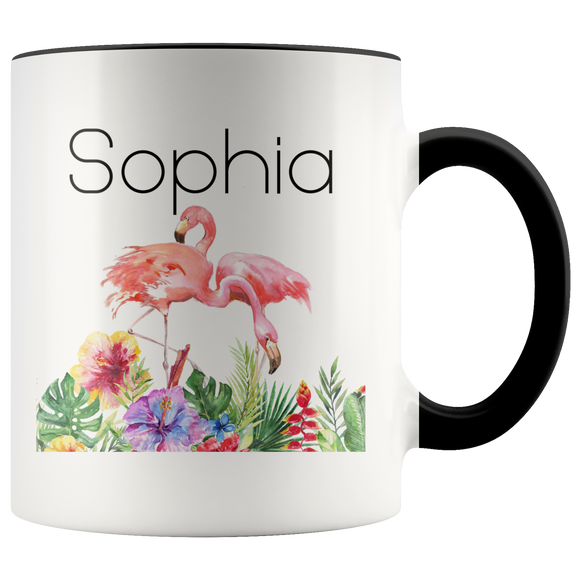Flamingo Mug, Large Personalized Flamingo Gifts Pink Flamingo Mug - You Can Print