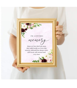 Floral Wedding In Loving Memory Template printable Wedding loving memory - You Can Print