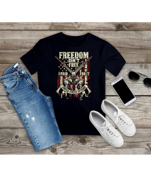 T-Shirt Freedom Isn't Free I Paid For It US Veteran Shirt Independence Day - You Can Print
