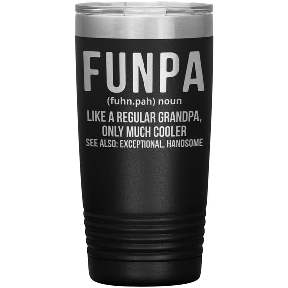 Funpa Defination Engraved Stainless Steel Vacuum Tumbler, Travel Mug, father's Day Gift - You Can Print