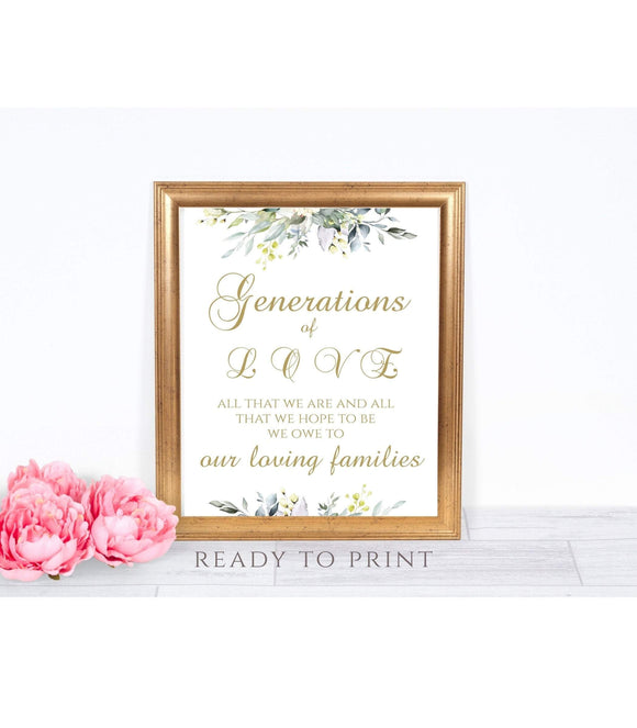 Generations Of Love, Generations Of Love Sign, Generation Of Love, Generations - You Can Print